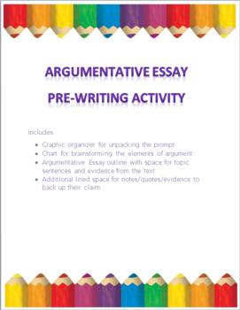 Argumentative Essay Pre-Writing Activity