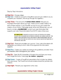 Argumentative Essay Print-and-Go Project Directions