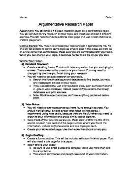 Argumentative Essay Research Paper