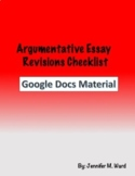 Argumentative Essay Revisions Checklist Google Doc