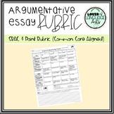 Argumentative Essay Rubric (SBAC & Common Core Aligned)