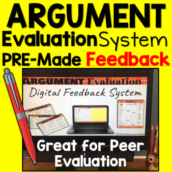 Argumentative Essay Rubric and FEEDBACK System: Middle School and High School