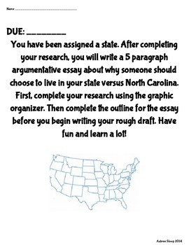 Argumentative Essay State Research Go and Outline 5.W.1