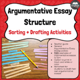 Argumentative Essay Structure Sorting + Drafting Activities