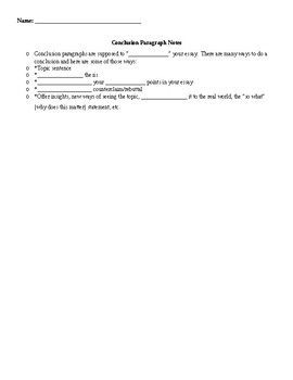 Argumentative Essay Student Notes