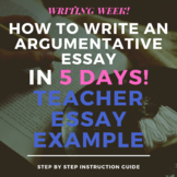 Argumentative Essay- Teacher Example Essay