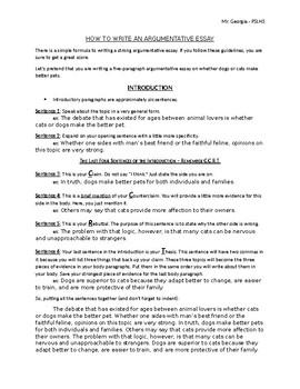 English Creative Writing Essays Argumentative Essay Template Argumentative Essay Template Proposal Essays also Essay For Students Of High School Argumentative Essay Template Teaching Resources  Teachers Pay Teachers Research Proposal Essay Example