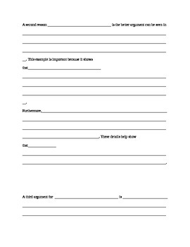 Argumentative Essay Template (Current Event/Issue)