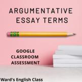 Argumentative Essay Test - Google Forms