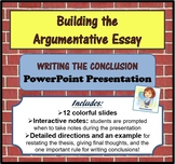 The Argumentative Essay - Writing the Conclusion