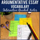 Argumentative Essay Vocabulary Printable Guided Notes