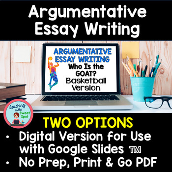 argumentative essay writing middle school by teaching in the sweet spot  sample essay english also www oppapers com essays thesis statement example for essays