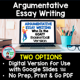 Argumentative Essay Writing Middle School Graphic Organizer, Rubric, & More