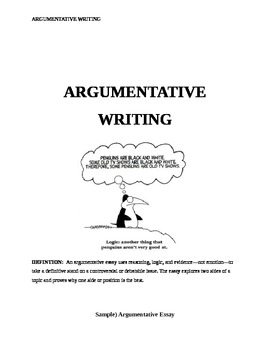 Argumentative Essay Writing- Common Core State Standards