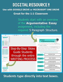 Argumentative Essay DIGITAL - Distance Learning - Argument Writing