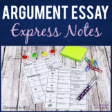 Argumentative Essay Writing Guided Notes   Printable and EASEL