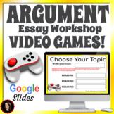 Argumentative Essay Writing Middle School Google Slides