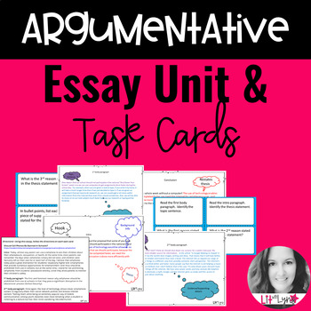 Argumentative Essay Writing Process & Task Cards