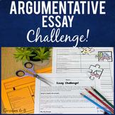 Argumentative Essay Writing Middle School Challenge Activity