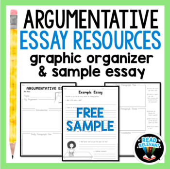 Argumentative essay writing resources free graphic organizer tpt