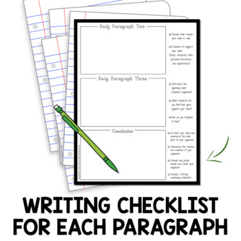 Argumentative Essay Writing Resources : Graphic Organizer and Sample Essay