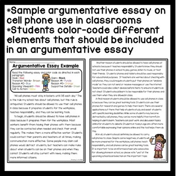 Writing an argumentative essay middle school