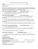 Argumentative Essay Writing Task and Rubric