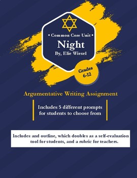 Essay Writing Paper Common Core Argumentative Essay For Night By Elie Wiesel Sample Essay Thesis Statement also Diwali Essay In English Common Core Argumentative Essay For Night By Elie Wiesel By Bethany  Obesity Essay Thesis