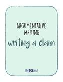 Argumentative Essay writing Claims