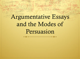 Argumentative Essays and the Modes of Persuasion