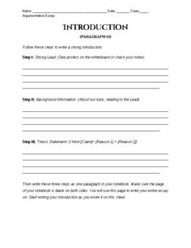 Argumentative Essays for Beginners