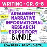 ARGUMENTATIVE WRITING, NARRATIVE WRITING, INFORMATIVE & RESEARCH WRITING & MORE