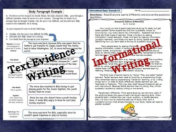 ARGUMENTATIVE, NARRATIVE, INFORMATIVE, RESEARCH, & EXPOSITORY WRITING BUNDLE