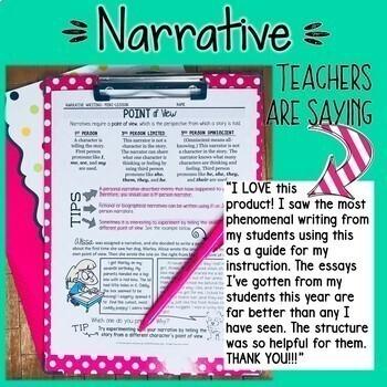 ARGUMENT WRITING, NARRATIVE WRITING, & INFORMATIONAL  WRITING BUNDLE