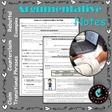 Argumentative Notes: Fill In The Blanks
