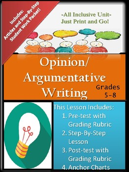 Argumentative (Opinion) Writing Lesson