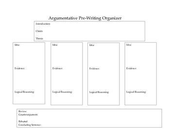 Argumentative Organizer