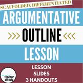 Argumentative Outline