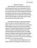 Argumentative Paper Example