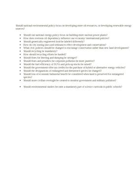 Argumentative Paper Handout