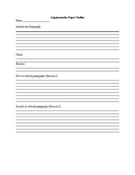 Argumentative Paper Outline