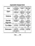 Argumentative Paper Rubric