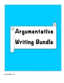 Weekly Paragraph Prompts and Graphic Organizers: Argumentative Writing Bundle
