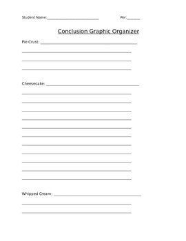 Argumentative (Persuasive) Conclusion Worksheet