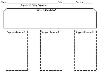 persuasive essay graphic organizer answers