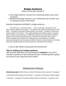 Argumentative (Persuasive) Introduction