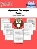 Argumentative (Persuasive) Text Analysis Practice