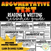Argumentative Text - Reading Analysis & Writing - Distance