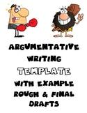 Argumentative Persuasive Template Essay Examples Organize