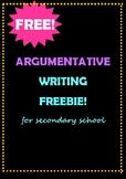 Argumentative Planning Worksheets